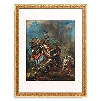 ウジェーヌ・ドラクロワ Ferdinand Victor Eugene Delacroix 「The Abduction of Rebecca. 1846」 額装アート作品