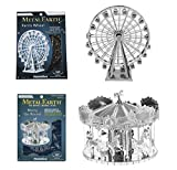 FascinationsメタルEarth Merry Go Round 3dメタルモデルキットand FascinationsメタルEarth Ferris Wheel 3dメタルモデルキットバンド..