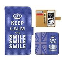 (ティアラ)Tiara Xperia XZ2 SOV37 スマホケース 手帳型 個性派 手帳ケース カバー Keep Calm 格言 イギリス E0165030101503