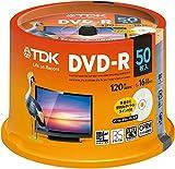 TDK 録画用DVD-R デジタル放送録画対応(CPRM) 1-16倍速対応 パールカラーディスク 50枚スピンドル DR120DALC50PUE