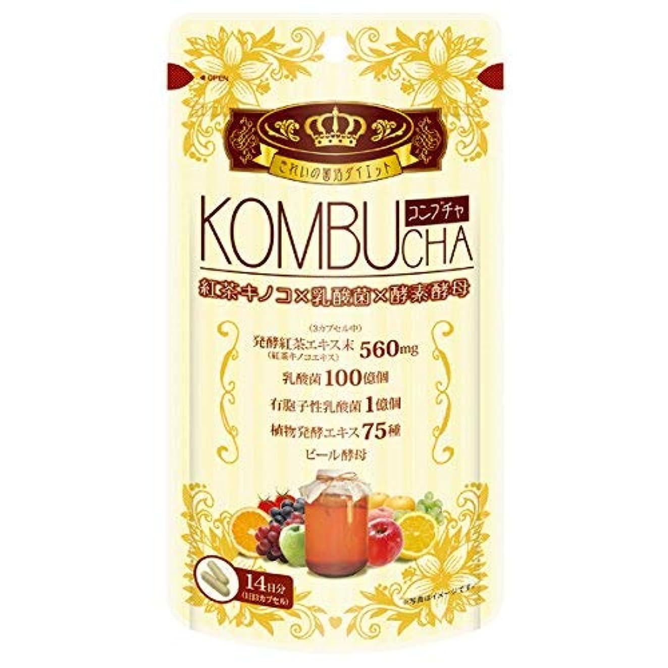 マナーする必要がある茎ユーワ YUWA KOMBUCHA 42粒 コンブチャ(腸活 菌活) 2個セット