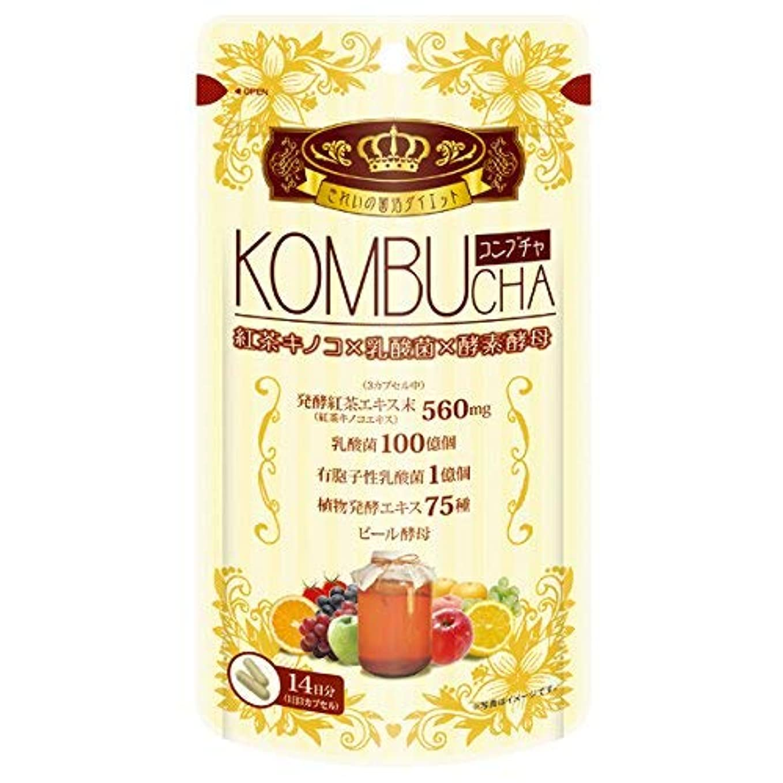 デジタル極地最後にユーワ YUWA KOMBUCHA 42粒 コンブチャ(腸活 菌活) 2個セット