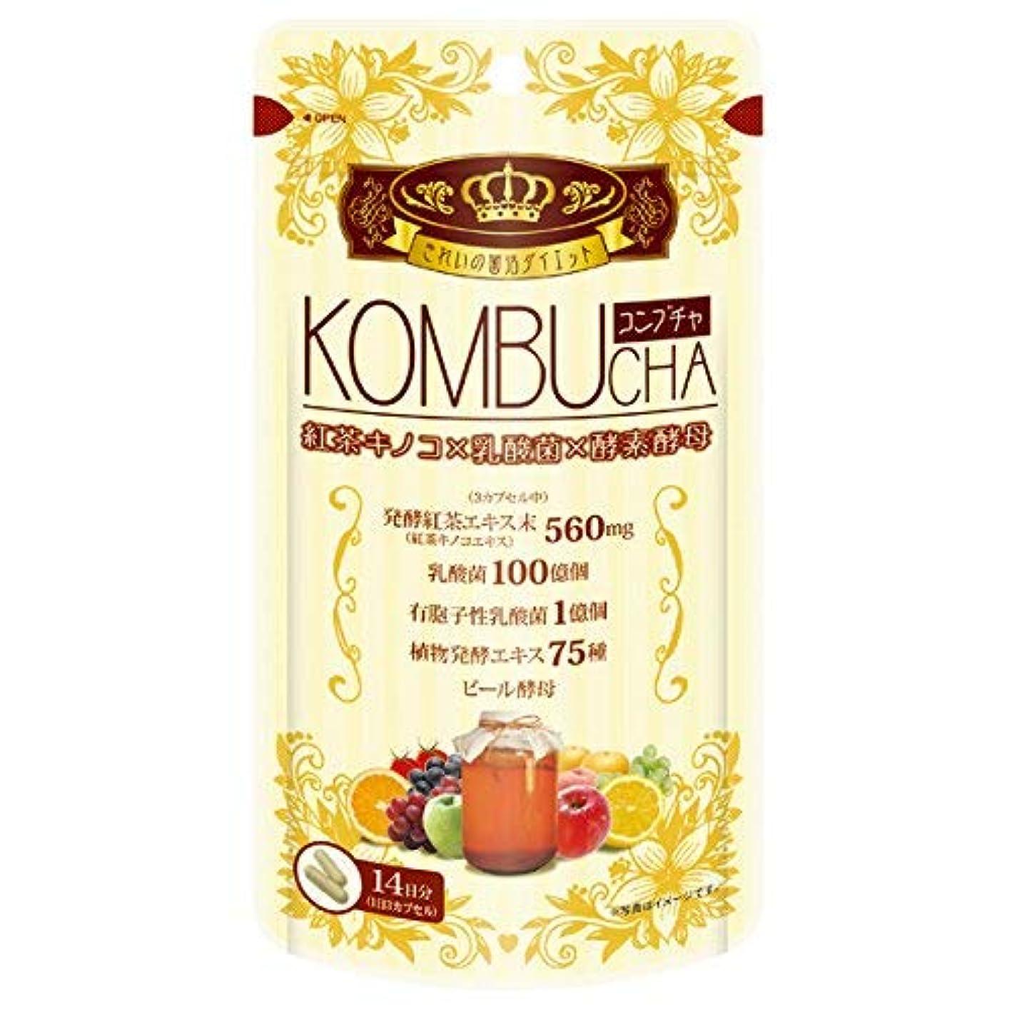 大事にするゴミ箱を空にするしつけユーワ YUWA KOMBUCHA 42粒 コンブチャ(腸活 菌活) 2個セット