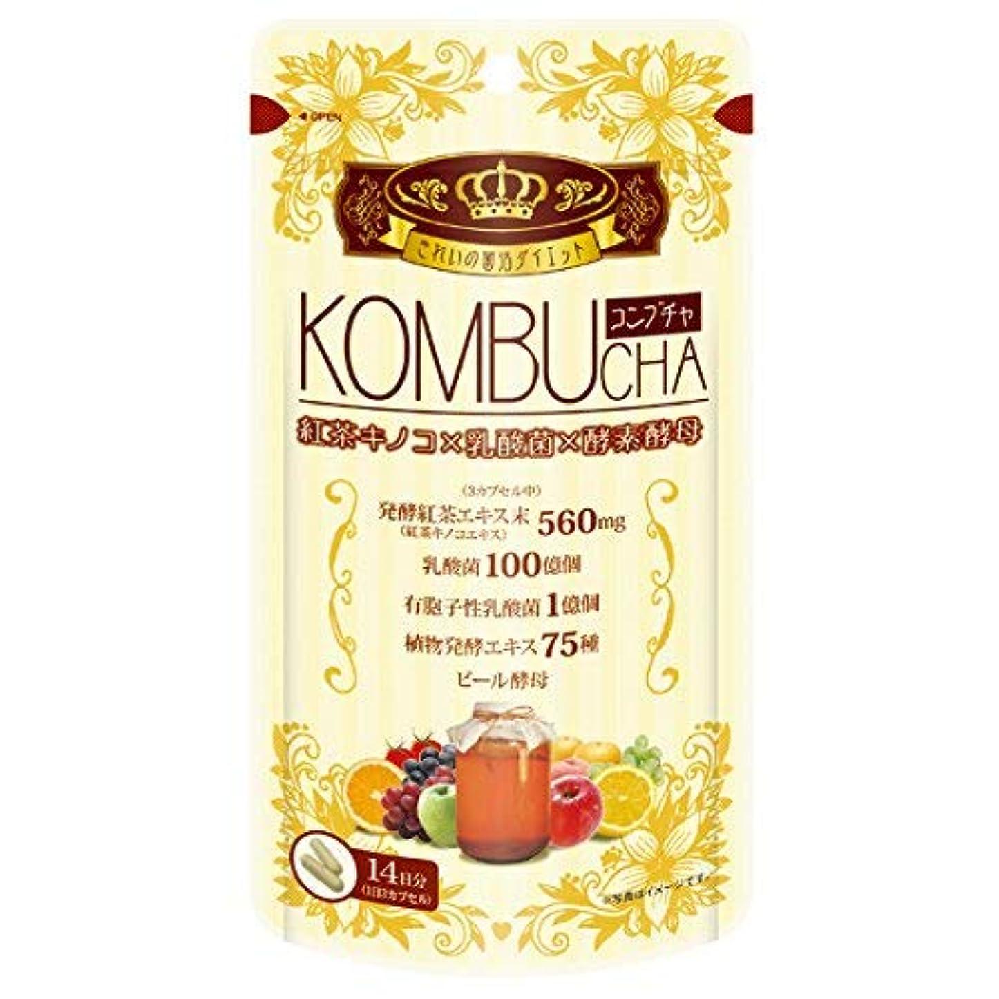 同種のマンモス身元ユーワ YUWA KOMBUCHA 42粒 コンブチャ(腸活 菌活) 2個セット