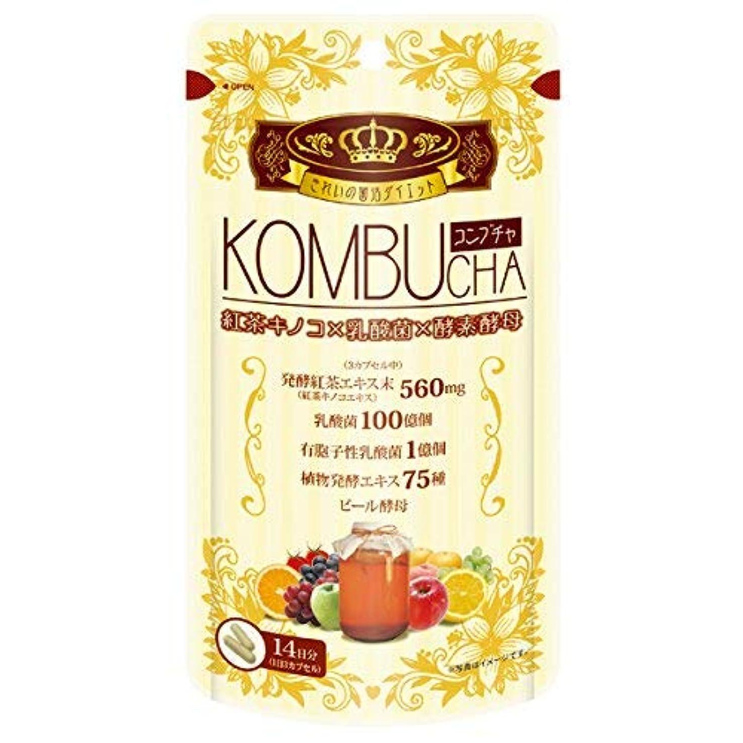 形カートリッジびんユーワ YUWA KOMBUCHA 42粒 コンブチャ(腸活 菌活) 2個セット