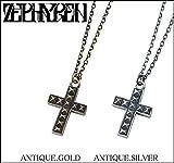 (ゼファレン)ZEPHYREN METAL NECKLACE -STUDS CROSS- ネックレス FREE ANTIQUE.GOLD