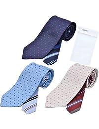 BUSINESSMAN SUPPORT(ビジネスマンサポート) メンズ ウーノ 洗えるネクタイ 3本セット 洗濯ネット1個付き 撥水加工