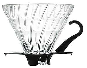 HARIO (ハリオ) V60 02 耐熱ガラス 透過 コーヒードリッパー  ブラック  コーヒードリップ 1~4杯用  VDG-02B
