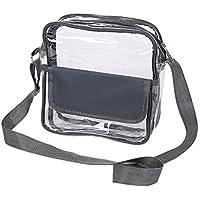 E-FirstFeeling Clear Crossbody Messenger Shoulder Bag Transparent Purse