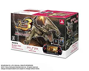 PSP「プレイステーション・ポータブル」 新米ハンターズパック ブラック/レッド(PSPJ-30020)【メーカー生産終了】