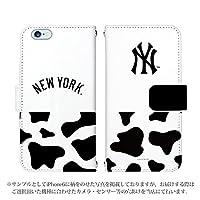 iPhone XR ケース [デザイン:23.NY(白×牛柄)/マグネットハンドあり] ニューヨークヤンキース NY 手帳型 スマホケース カバー アイフォン アイホン てんあーる ipxr