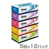 日本製紙クレシア クリネックス ティッシュペーパー 360枚(180組) パルプ100%5箱×12パック(60箱) 40401
