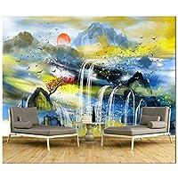 Mrlwy カスタム3D壁紙現代抽象風景画の背景壁画装飾防水-350X250CM
