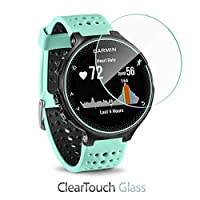 Garmin Forerunner 235 Screen Protector BoxWave [ClearTouch Glass] 9H Tempered Glass Screen Protection for Garmin Forerunner 235 [並行輸入品]