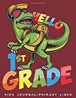 Kids Journal Primary Lined: Dinosaur 1st Grade Creative Writing Journal