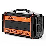 Rockpals ポータブル電源 正弦波 大容量60000mAh 250W 軽量2.5Kg 小型発電機 DC&AC&USB出力 電気毛布 キャンプ 車中泊 緊急時常備用 家用蓄電池