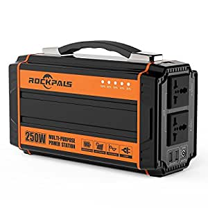 Rockpals K36 ポータブル電源 正弦波 大容量 64800mAh/240Wh 250W 50/60Hz 東/西日本電圧対応 小型発電機 三つの充電方法 ソーラー充電 地震 キャンプ 車中泊 家用蓄電池 非常用電源 容量アップ版