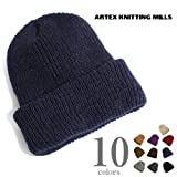 Made In USA (アメリカ製) 【Artex knitting mills】アーテックスニッティングミルズ ニットキャップ ワッチキャップ (ワンサイズ, F:Navy)