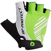 サイクリンググローブ 自転車手袋指きりグローブ 通気性素材ハーフフィンガーグローブ ロードバイクグローブMTBグローブ衝撃吸収パッド付き