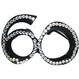 フォレートメガネ60歳の誕生日ブラックダイヤモンドフレーム