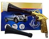 トルネード気流で水滴を吹き飛ばす パルスエアーガン ブラシコーン付き 楽で素早い洗車