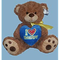 大きなI Heart Daddy Plush Bear Stuffed Animal Holding Heart – Great Gift for Dad – I Love Daddy