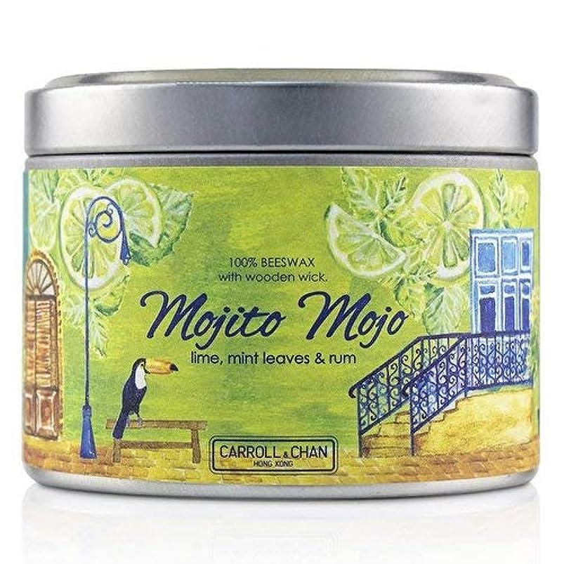 朝天窓学んだキャンドル?カンパニー Tin Can 100% Beeswax Candle with Wooden Wick - Mojito Mojo (8x5) cm並行輸入品