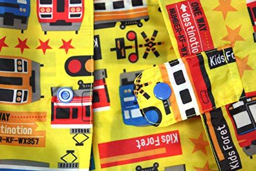 【子供服】 Kids Foret (キッズフォーレ) りんご・電車柄レインコート S~L B81800