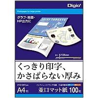 コピー用紙 A4 100枚 インクジェットマット紙 JPFG-A4-100