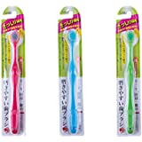 歯ブラシ職人 Artooth ®田辺重吉 磨きやすい歯ブラシ 6列ワイドタイプ 少しやわらかめ LT-29 (3本パック)