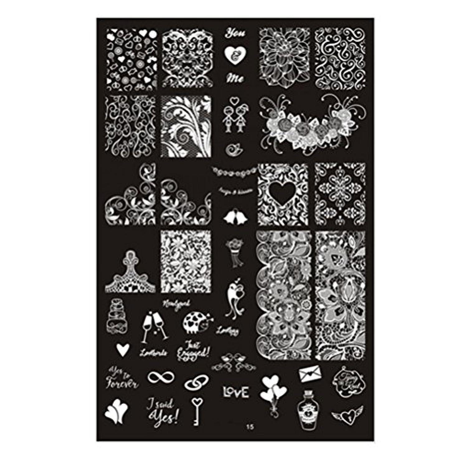 [ルテンズ] スタンピングプレートセット 花柄 ネイルプレート ネイルアートツール ネイルプレート ネイルスタンパー ネイルスタンプ スタンプネイル ネイルデザイン用品