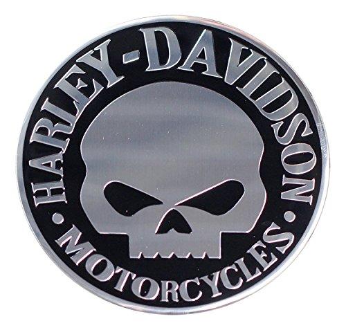 アルミニウムエンブレム ステッカー ハーレーダビッドソン Willey G Skull Harley-Davidson アメリカ雑貨 アメリカン雑貨 [並行輸入品]