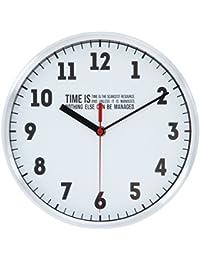 不二貿易 壁掛け時計 タイムズ 直径25cm アルミ ホワイト 53591