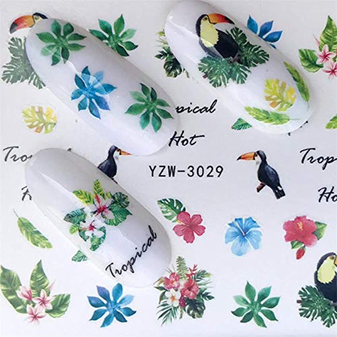 特許底知恵SUKTI&XIAO ネイルステッカー サマーフルーツストロベリーチェリーケーキアイスクリームネイルアート水転写ステッカー装飾スライダーデカールマニキュア、YZW-3029