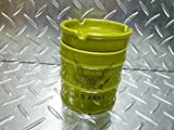 世田谷ベース 陶器製 ドラム缶型 灰皿(アーミー)セラミック/フタ付 ミリタリー アーミー アシュトレイ☆インテリア
