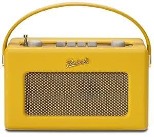 ロバーツラジオ R250 レザークロス サフロン(イエロー) バックライト付き ゴールドパネル