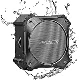 ARCHEER Solar Power Portable Bluetooth Speaker,IPX6 Waterproof Speakers with 20hrs Playtime,Enhanced Bass, Built in Mic,Handfree Calking, AUX Input and Durable Design