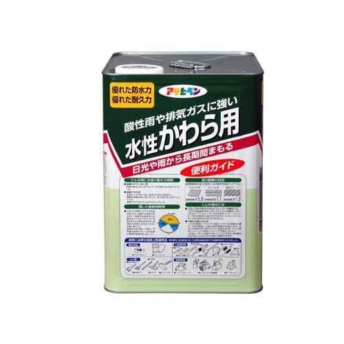 アサヒペン 水性かわら用ツヤ有り スカイ青14l