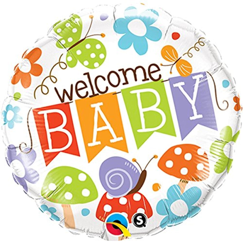 Qualatex Foil Balloon 25210 Welcome Baby Banner Garden, 18