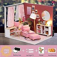 DORA⊕BRSドールハウス家具ミニチュアドールハウス Diy のミニチュアハウスルームカサおもちゃ子供のための DIY ドールハウス H17-2