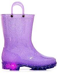 b54d2572db2a9 [MOFEVER] キッズ レインブーツ レイン子供用 長靴 光る靴 ハンドル レインブーツ キッズ ジュニア 男の子 女の子 雨靴 おしゃれ レインシューズ  滑り止め…