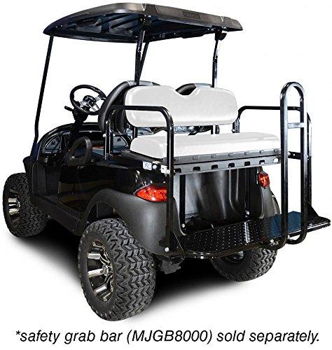 Madjax 01–002Genesis 150Rear Flip Seatキットfor 2004-up Club Car Precedentゴルフカートホワイトクッション