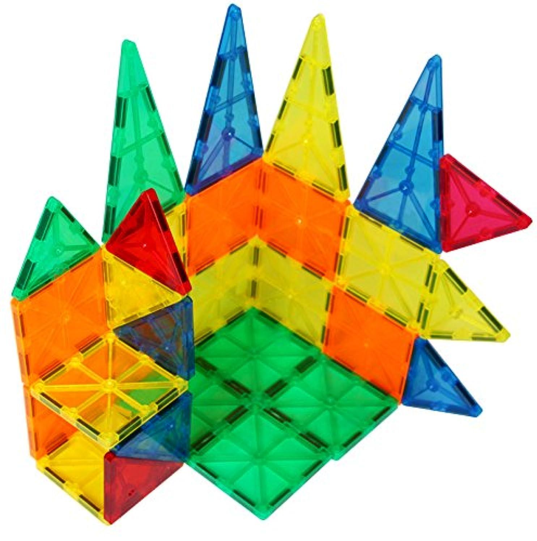 Sun Cling 立体磁石式プラスチックタイル 磁石式知育積み木 32個 BPAフリー
