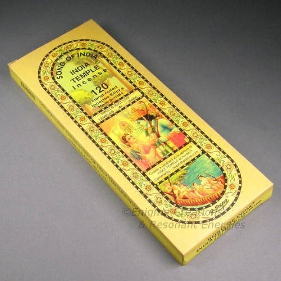 どうしたの温度改修Song of India - India Temple Incense, 120 Stick Pack, (IN9) by Song of India [並行輸入品]