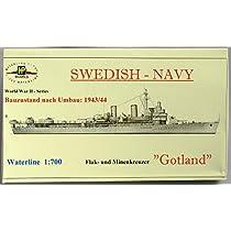 1/700 スウェーデン海軍防空巡洋艦 ゴトランド 1944/54