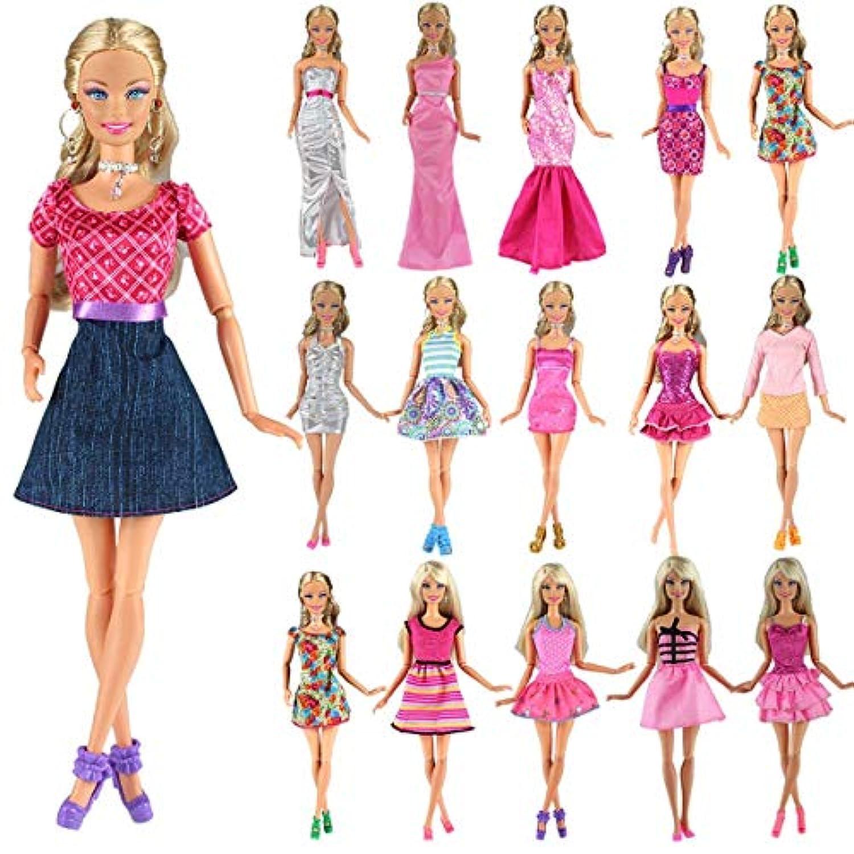 「Barwawa」バービー人形 服 バービー用服 バービードレス バービードール用 ランダム5枚セット バービー用 きせかえ 手作り ジェニー用ドレス ジェニー用きせかえ 1/6ドール用 プリンセスドレス