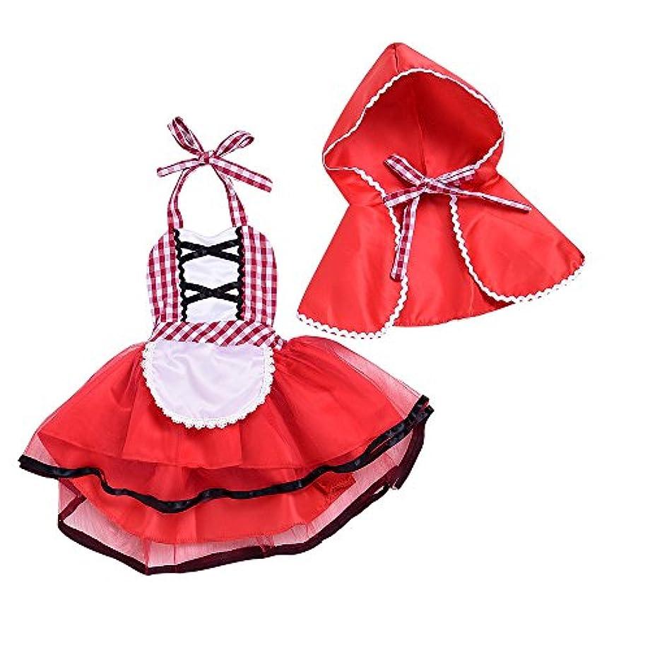 金銭的儀式すなわち(プタス)Putars ベビー服 子供服 ワンピース チュールドレス 女の子 コスチューム 赤いポンチョ 可愛い 記念日 プレゼント 3-18ヶ月