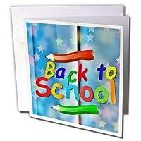 Sven Herkenrathアート–Back To School For Kids–グリーティングカード Set of 6 Greeting Cards
