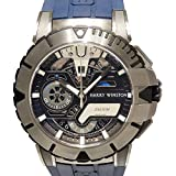 ハリー・ウィンストン HARRY WINSTON オーシャンスポーツ クロノグラフ リミテッドエディション 世界限定300本 OCSACH44ZZ006 ブラック..