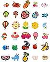 JINSELF ワッペン 【30枚セット】 子供用 可愛い 動物 花 保育園 幼稚園 ひざあて アップリケ 女の子A